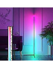 AveyLum lampa stojąca LED RGB, ściemniana z pilotem zdalnego sterowania, lampa do salonu, wielokolorowa zmiana koloru, nowoczesna lampa stojąca, ściemniana lampa stojąca z pilotem zdalnego sterowania, 18 W