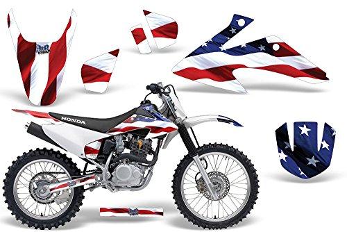 2008-2013 Honda CRF 150/230F AMRRACING ATV Graphics Decal Kit-Stars amd Stripes