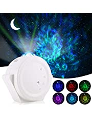ALOVECO Star Projector, 3-in-1 LED Night Light Projector with Moon Star Nebula Cloud Touch&Voice Control Christmas Projector Lights Sky Projection Lamp for Kids, Bedrooms,Game Rooms,Home Theatre