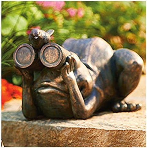 ALLEN GROUP INTL Frog/Binoculars Statue