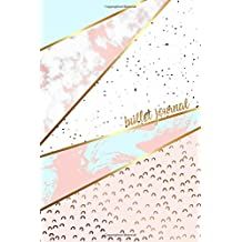 Bullet Journal: Marble + Gold Designer Bullet Journal | Dot Grid Journal