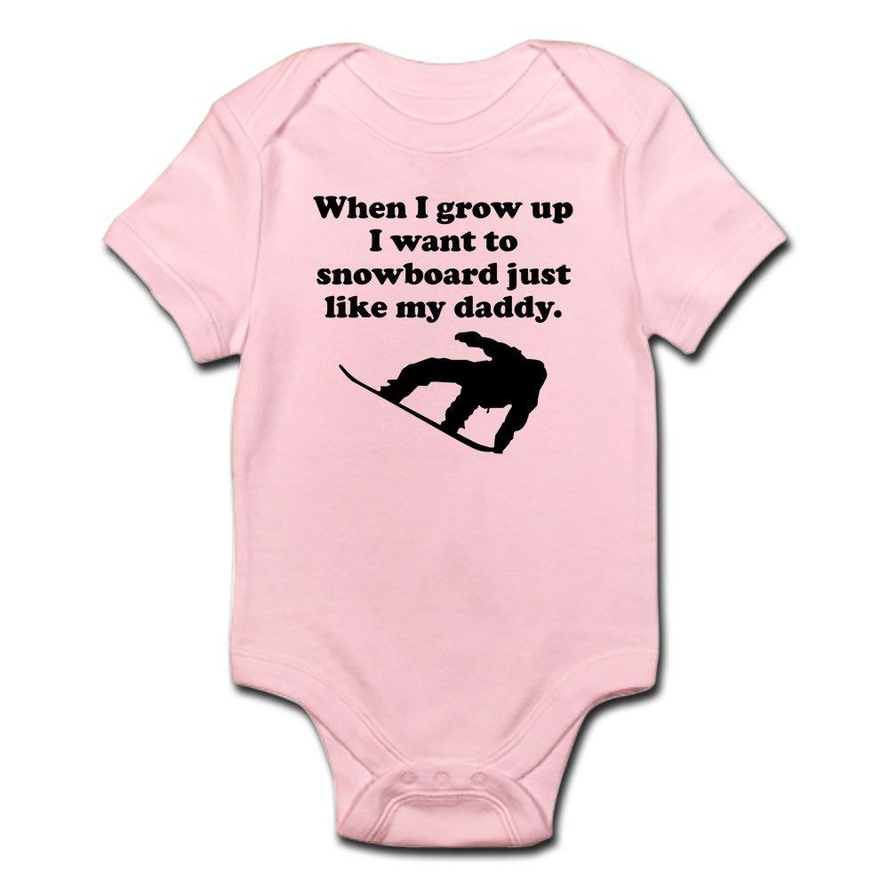 76edc3934bf8 Amazon.com  CafePress Snowboard Like My Daddy Body Suit Baby ...
