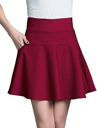 Verano para Mujer Una De Falda Cintura Mini Línea Alta Ropa ...