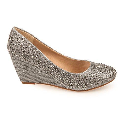 La Modeuse - Zapatos de Vestir Mujer - plata