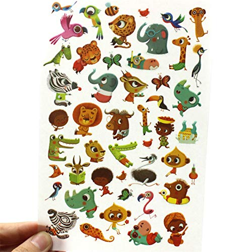 Scrapbook Journal Journal Happiness Craft Cartoon Animals Rub On for Scrapbooking Happy Planner/Card Making/Journaling Project ()