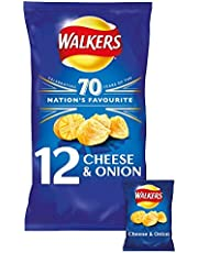 WALKERS CHEESE AND ONION CRISPS PACK OF 14 BAGS