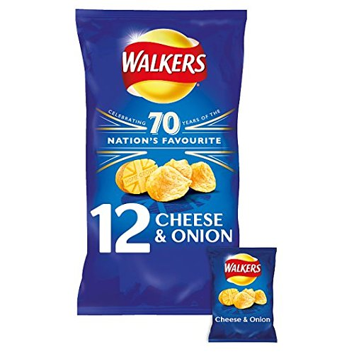 Walkers Cheese and Onion Crisps 12 Bags