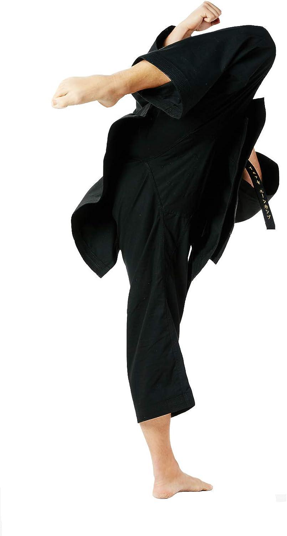 White WKF Approved Black Seishin Premium Adult Karate Gi Uniform Men