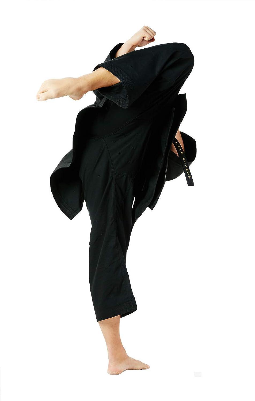 dea20f76 Amazon.com : Seishin Premium Adult Karate Gi Uniform Men - White WKF  Approved Black : Clothing