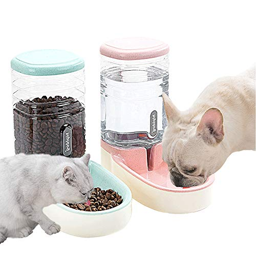 (Lucky-M Pets Automatic Feeder Set (Pink+Green))