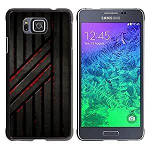 MOBMART Carcasa Funda Case Cover Armor Shell PARA Samsung ALPHA G850 - Rusted Blood Railings