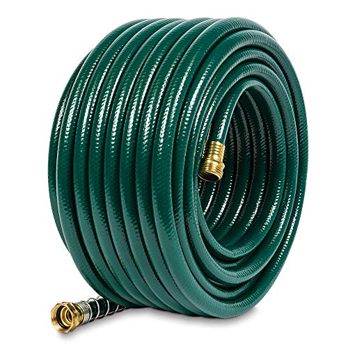 Gilmour 824001-1001 Flexogen Heavy Duty Watering Garden Hose 1/2in x 100 Feet, Green