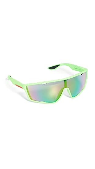 Prada Linea Rossa 0PS 09US Gafas de sol, Fluo Green Rubber ...
