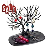 Black Sales Friday Deals Cyber Sales Monday Deals 2018 - Deer Tray Jewelry Organizers Makeup Storage Necklace Hanger Earrings Desk Holder Desktop Jewellery Display Holder