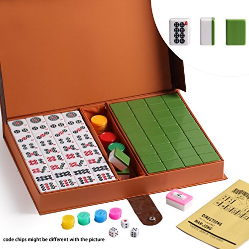 Chinese Mahjong (We pay your sales tax Chinese Numbered X-Large Tiles Mahjong Set. 144 Tiles 1.5