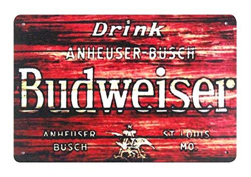 WholesaleSarong Drink Anheuser Busch Budweiser Beer Metal Sign Outdoor Home Decor Wall Art Decor Stores