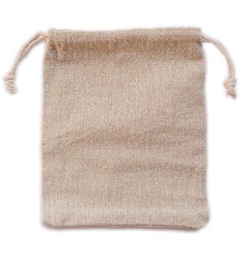Actopus 50pcs Burlap Bags 12x15cm / 4.72x5.9 inch for Wedding Halloween Christmas Party Gifts Decor Bracelet -