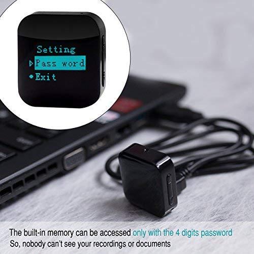 8GB//570 Horas de Capacidad Protegido Con Contrase/ña Grabar Voz Con Alta Fidelidad Grabador de Voz Espia 24h de Duraci/ón De La Bater/ía