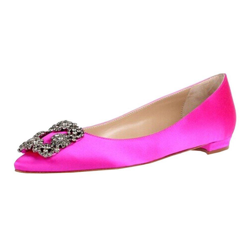 Caitlin 11688 Pan Femmes Escarpins Robe Classique Talons Hauts Satin Satin Bout Pointu Diamants Talon Aiguille Chaussures de Robe Pink-flat aef6730 - reprogrammed.space