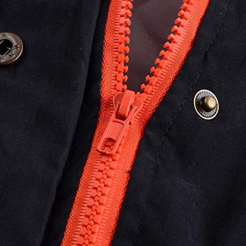 Donna Classiche Outerwear Cappuccio Donne Anteriori Outwear Cerniera Casual Tasche Con Confortevole Colore Coulisse Giacca Cappotti Schwarz Moda Puro Invernali n1rqnxAO