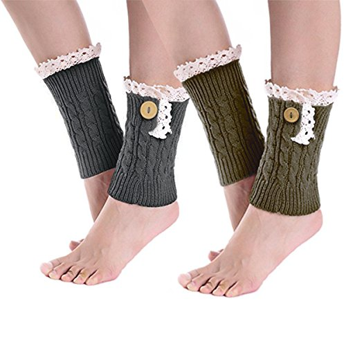 Womens Knitted Warmers Stretch Crochet