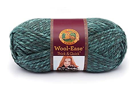 Lion 640-526 Wool-Ease Thick & Quick Yarn , 97 Meters, Blueberry - Quick Yarn Barley