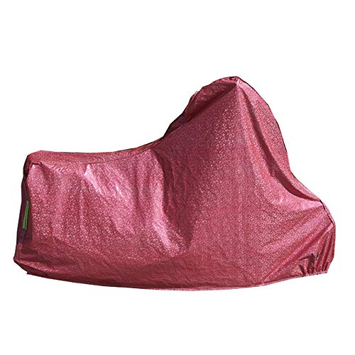 ZZKJTANGYMTT Motorcycle Covers for Outside Storage, Scooter Car Cover, Electric Car Battery Sun Protection, Rain Cover, Car Cover Sunshade, Cover Cloth, Thickening, Dust Cover,Red-S