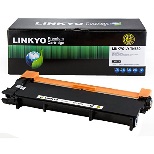 LINKYO Compatible Toner Cartridge Replacement for Brother TN660 TN-660 TN630 TN-630 High Yield Toner Cartridge (Black, High Yield, 64-Pack)