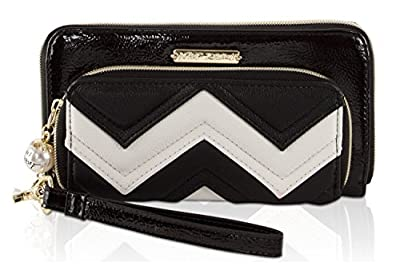 Betsey Johnson Womens Oversized Zip Around Wallet
