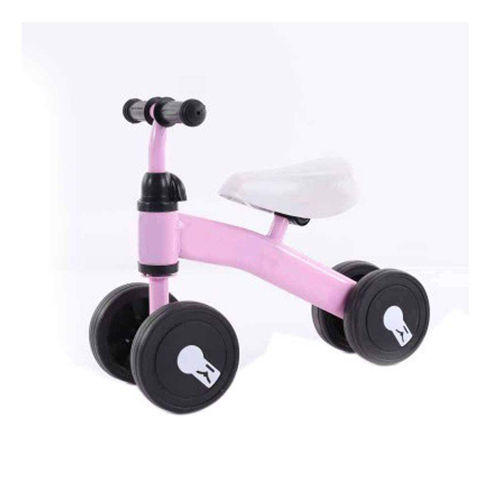 Children's Balance car 1 to 3 Years Old Baby Four-Wheeled Scooter Baby Walker Without Pedal yo, Single-Foot Child Scooter-Pink