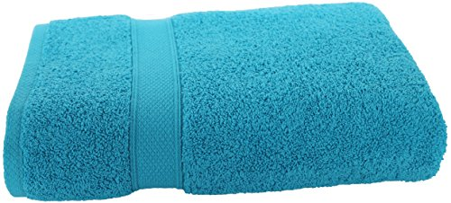 100% Pure Organic Luxury Hotel & Spa,Premium Quality. 700 GSM Extra Large towel Last long Super Soft, Plush and Ultra Absorbent Quick dry 35 x 70-Inch (Bath Sheet- Set of 2, Caribbean Aqua) by Aspendos Linen (Image #4)