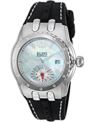 Elini Barokas Womens Genesis Vision Swiss Quartz Stainless Steel and Silicone Watch, Color:Black (Model: 20029...