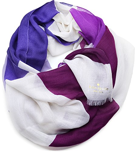 Kate Spade New York Womens Abstract Bow Scarf (Foxglove) by Kate Spade New York