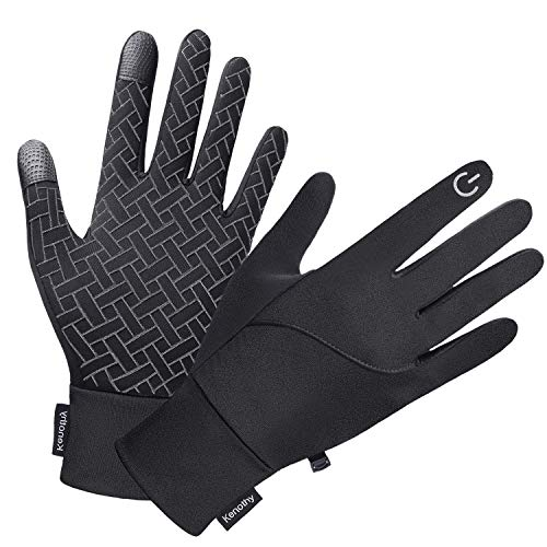 Winter Gloves for Men Women, Touch Screen Windproof Waterproof Cold Weather Warm Gloves for Running Cycling Hiking Driving