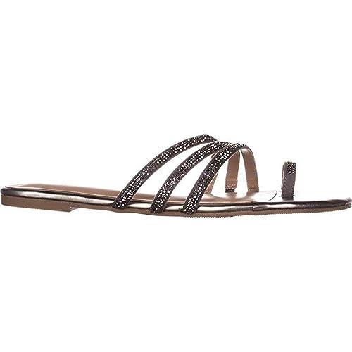 4ffed50915e Thalia Sodi Womens Jaynne Toe Ring Flat Sandals Open Toe
