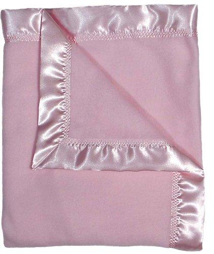 Raindrops Fleece Receiving Blanket, Pink