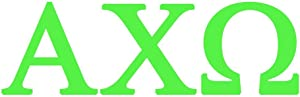 StickerDad Alpha CHI Omega Vinyl Decal (Official Licensed Product) - Size: 6