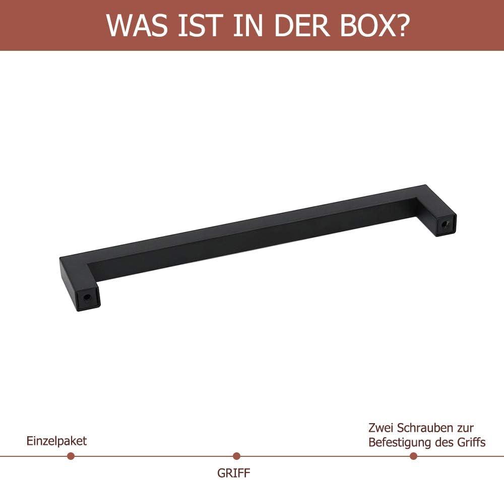 5 Stück Griff Haken Möbelgriff Schrankgriff Griffe 55 x 12 mm schwarz