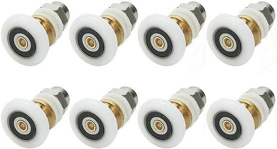 8pcs ducha roomroller rueda ducha rodillo de acero sccessories rueda 24 mm: Amazon.es: Bricolaje y herramientas