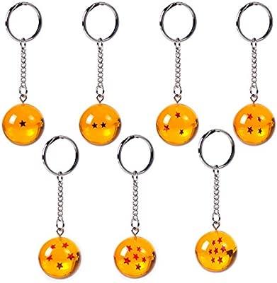 Llavero Netronic, acrílico, 2,7 cm, diseño de estrellas de Dragon Ball Z, 3 stars