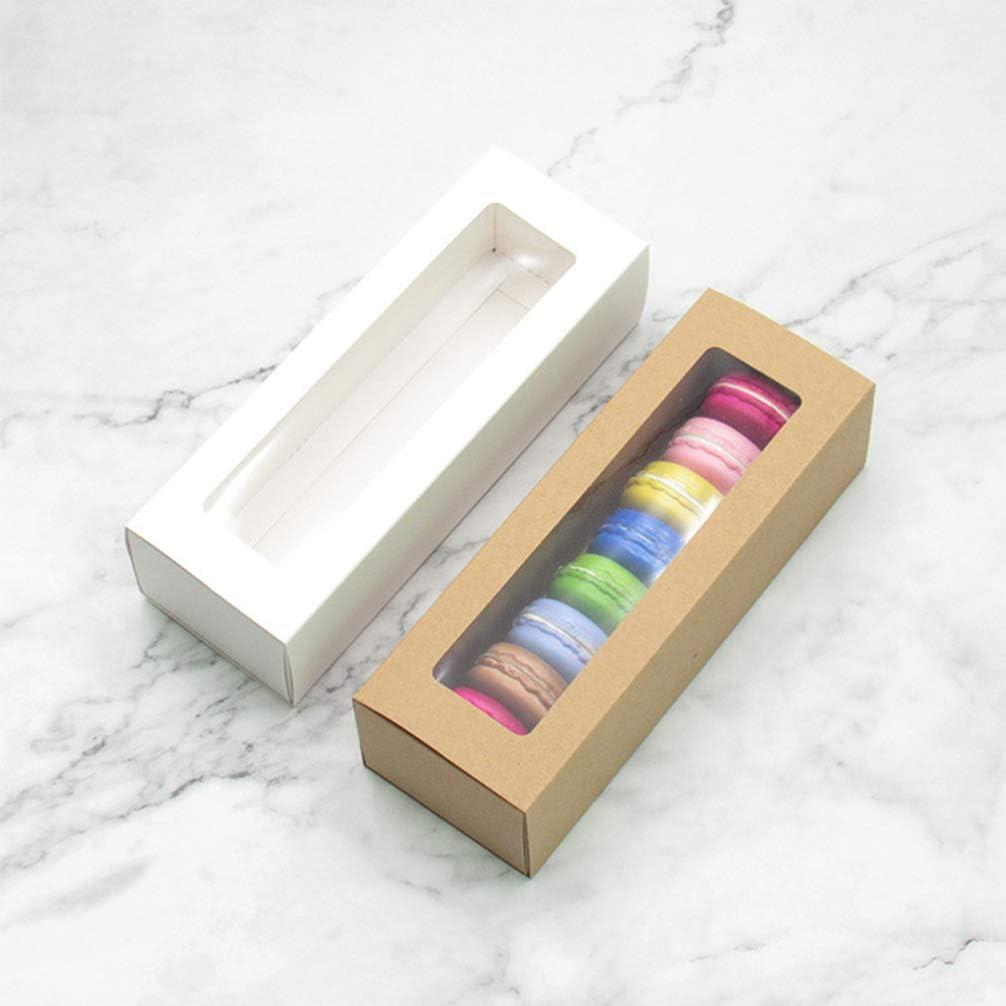 UPKOCH Scatole per Macaron da 10 Pezzi scatole per Dolci in Carta rettangolari per Cupcake Dessert per Negozio di Articoli da Forno