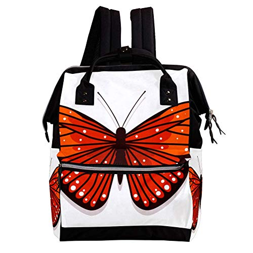 Large Capacity Baby Diaper Bag Backpack for Girl and boy Multifunction Travel Backpack Anti-Theft and Stylish 10.6x7.8x14in Butterfly - 0132