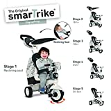smarTrike Dazzle 5-in-1 Baby Trike Light-Weight 14 pounds With Quiet Ride Wheels, Storage Bag and Canopy - Black and White