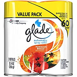 Glade Automatic Spray Air Freshener, Hawaiian Breeze, 2count, 12.4 Ounce