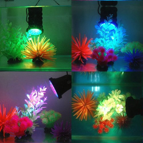 Amzdeal waterproof 36 led submersible spotlight landscape for Koi pond underwater lighting