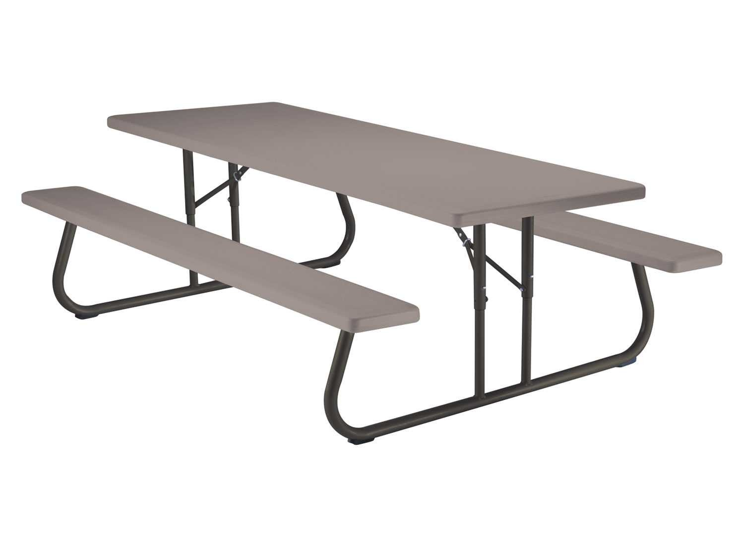 amazoncom lifetime folding picnic table and benches 8 feet patio lawn u0026 garden