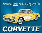 58 Corvette America's Car Metal Sign