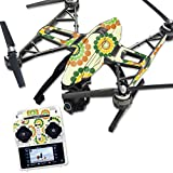 MightySkins Protective Vinyl Skin Decal for Yuneec Q500 & Q500+ Quadcopter Drone wrap cover sticker skins Flower Power