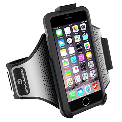 "Workout Armband for Spigen Tough Armor Case - iPhone 6 Plus (5.5""), Sweat-Resistant Band (case is not included) (Encased Products)"