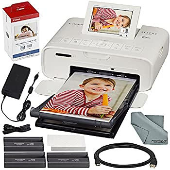 Amazon canon selphy cp1200 black wireless color photo printer canon selphy cp1300 compact photo printer white with wifi and accessory bundle wcanon color ink and paper set solutioingenieria Image collections